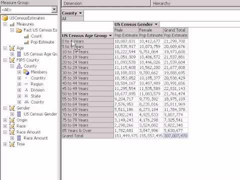 IKIDAF.com US Census Population Estimates Cube