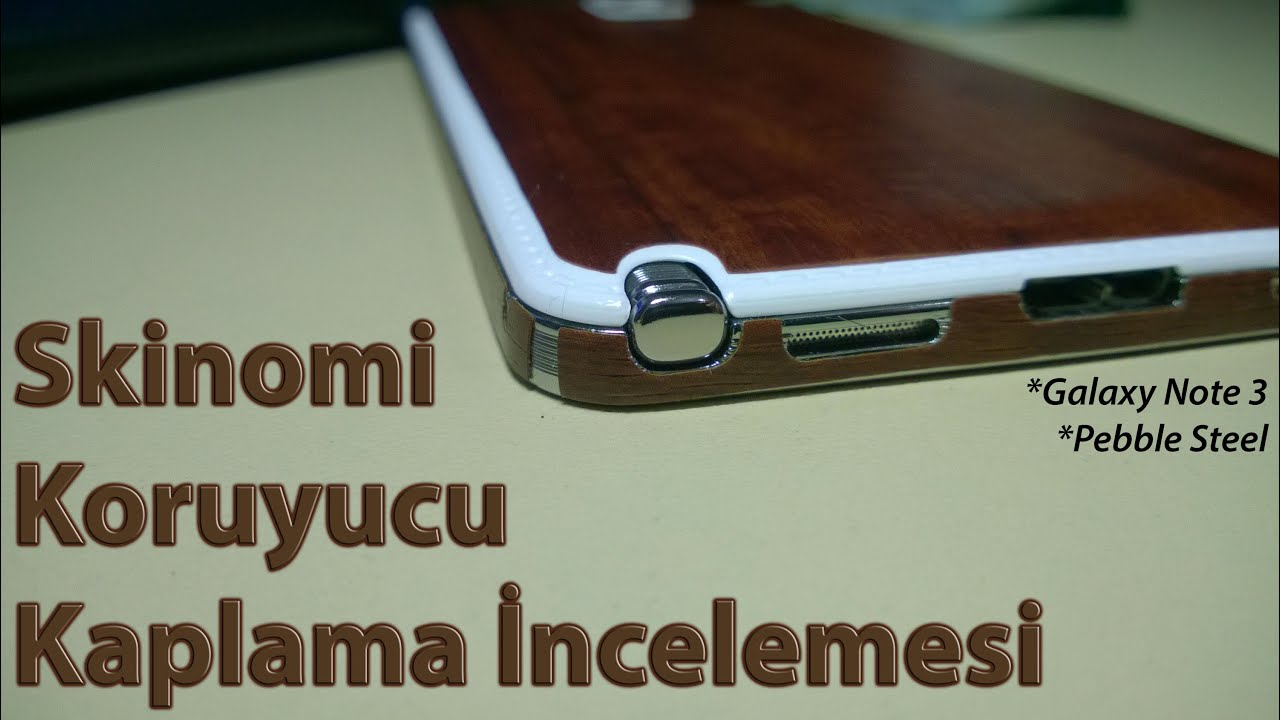 Skinomi Galaxy Note 3 & Pebble Steel Dark Wood Skin ...