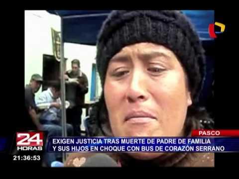 Exigen Justicia Para Víctimas De Choque De Auto Contra Bus De Corazón Serrano