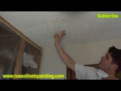 Diy Ceiling Repair Skim Coat Over A Painted Popcorn Part 1