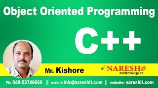 Object Oriented Programming Part 1 | C ++ Tutorial | Mr. Kishore