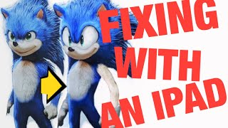 Fixing Sonic The Hedgehog's Movie Design with just an IPad