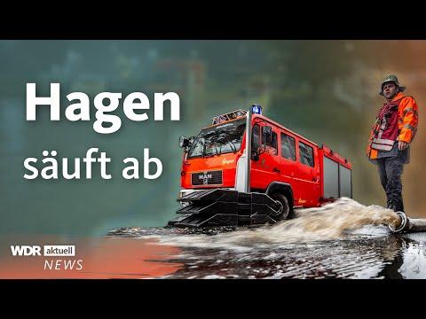 Unwetter in NRW: Heftige Bilder aus Hagen   WDR aktuell