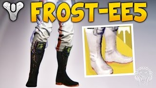 Destiny: NEW EXOTIC HUNTER BOOTS! FR0ST-EE5 Exotics Review & Gameplay (Frostees Rise of Iron)