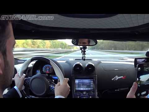 25 Min Koenigsegg Agera R AUTOBAHN ALL OUT 350+ Km/h 220 Mph 1140 HP And 1200 Nm 1330 Kg Dry Weight