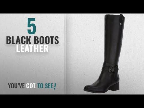Top 5 Black Boots Leather [2018]: Naturalizer Women's Dev Riding Boot, Black, 10 M US