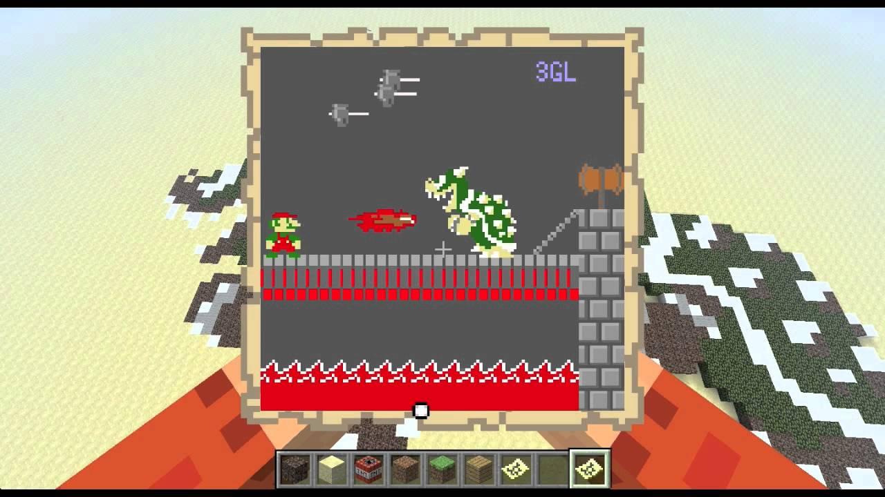 Attractive Pixel Map Art   Minecraft   Mario Vs Bowser   YouTube