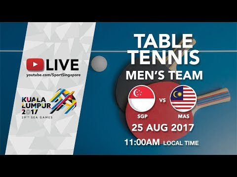 Table Tennis 🏓 Men's Team: Singapore 🇸🇬 vs 🇲🇾 Malaysia   29th SEA Games 2017