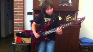 A Million to One Helloween (cover) Tristan 10 years old kid