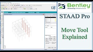 STAAD Pro Tutorial For Beginners [Episode 6]: Using Move Tool