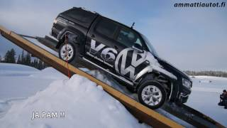 Winter Driving Experience with VW Amarok 2017 Finland