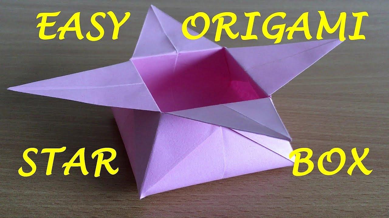 Origami star box | Paper box easy making Tutorial for kids ... | 720x1280
