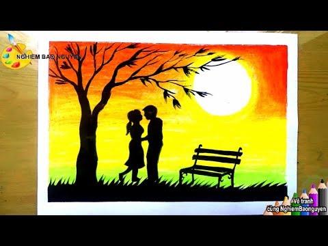 Vẽ tranh về tình yêu/How to draw Couple love