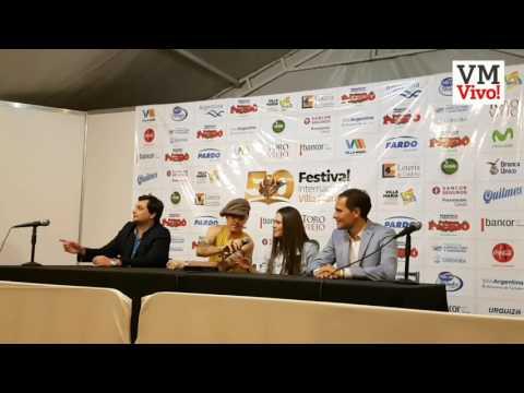Conferencia de prensa de Jesse & Joy en el Festival de Peñas 2017