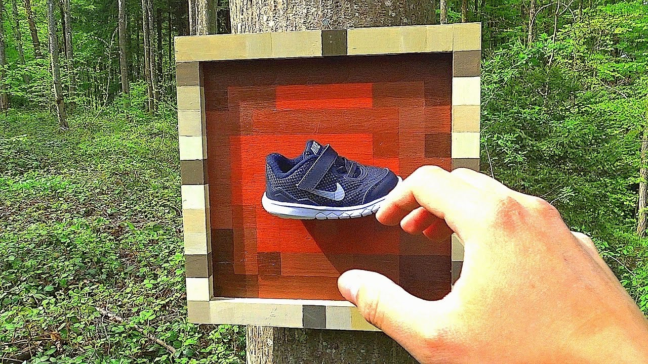 ITEM FRAME in REAL LIFE - Minecraft - YouTube