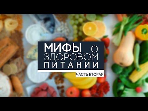 Мифы о здоровом питании. Часть 2.
