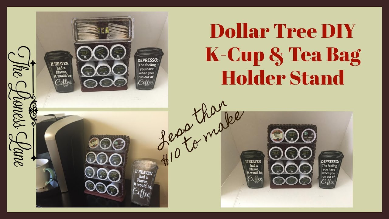 Dollar Tree Diy K Cup Tea Holder Youtube