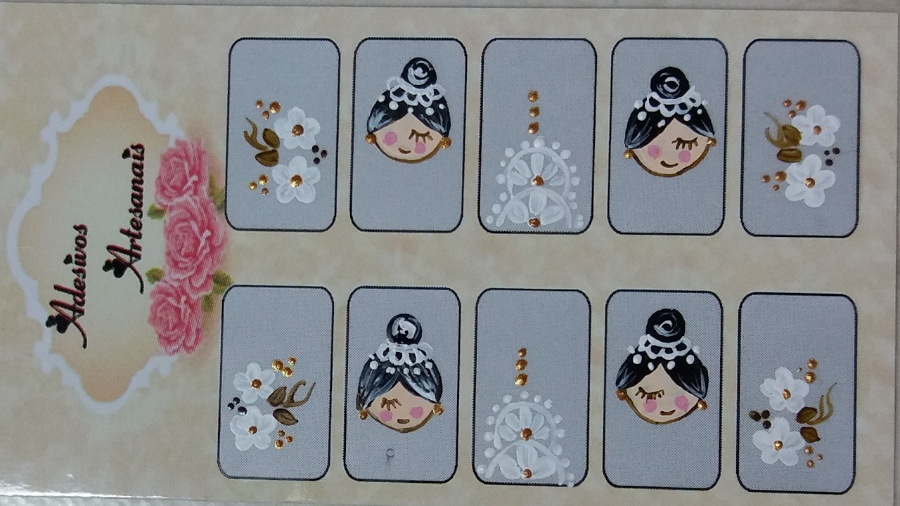 Artesanato Quilling ~ Bonequinha Noivinha Adesivos De Unha Passo A Passo YouTube