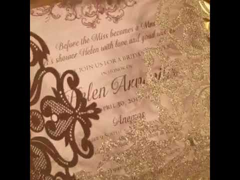 Glitter Laser Cut Invitations Review From Our Dealer
