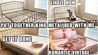 """PUT TOGETHER BED WITH SINGLE MOM """"ROMANTIC VINTAGE LOOK"""""""