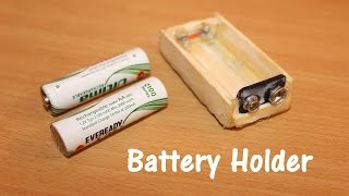 How to make a Battery Holder at Home - Easy