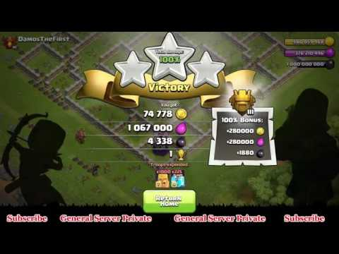 Amazing Troops 1000 Every Thing Clash Of Clans General Server Private