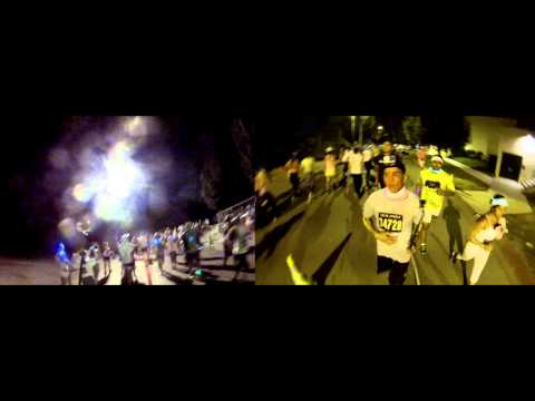 5k Neon Run Full Race!! Liquid Color!! Dual Cam's, Split Screen, Carson California!