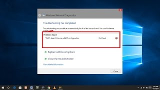 wifi valid ip configuration windows 10