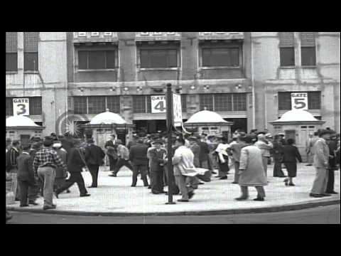 Scenes of Baseball star Joe Dimaggio playing in his last  year with the New York ...HD Stock Footage