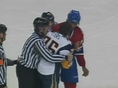 Andrew Peters vs Georges Laraque Dec 20, 2008