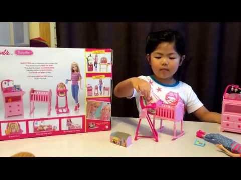 Barbie babysitter play set