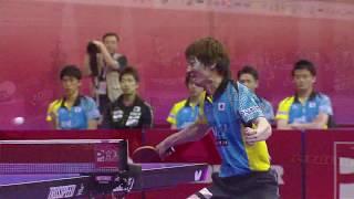 【スーパープレー】世界卓球2016マレーシア 松平健太vsイェフィモウ