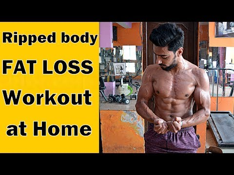 Ripped FAT LOSS Workout At Home (Men & Women) | bodybuilding tips