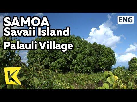【K】Samoa Travel-Savaii Island[사모아 여행-사바이]팔라울리 마을, 폴리네시아 최대 석조 건축물/Palauli Village/Pyramid
