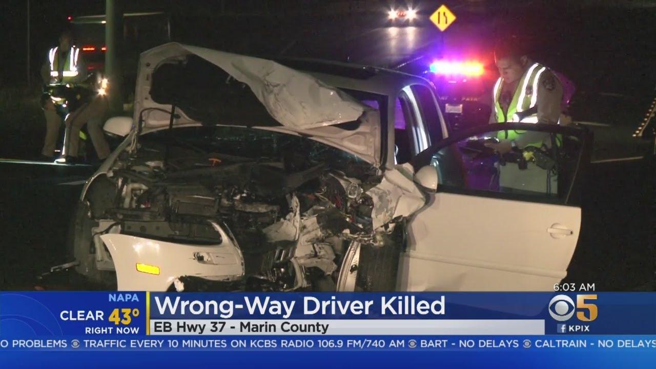 Wrong-Way Driver Killed In Novato Crash