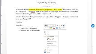 Break-even Point Analysis - Engineering Economy