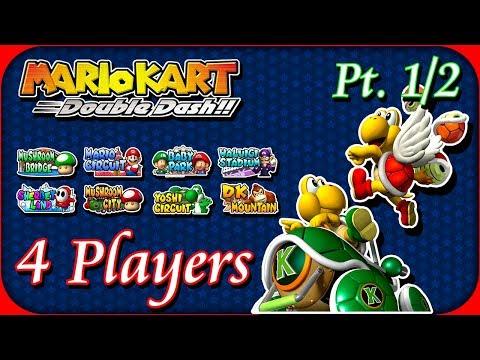 Mario Kart Double Dash - 4 Players - VS. Mode - Pt. (1/2)