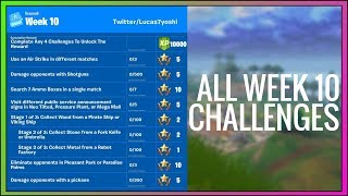 Fortnite guide for *ALL* LEAKED Season 9 Week 10 Challenges (PSA Signs, Robot Factory) Fortnite