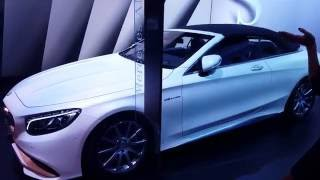 MERCEDES S63 AMG CABRIOLET 2016 going topless - Dubai International motor show 2016!