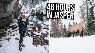 Exploring Jasper National Park   Ice Walk Through Maligne Canyon