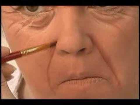 Old Age makeup for theatre - Nasolabial fold - YouTube