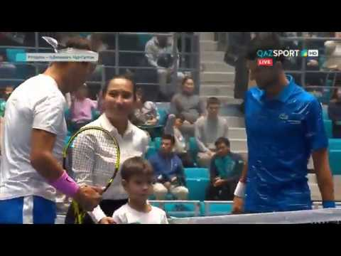 Rafael Nadal Vs Novak Djokovic Exhibition Match In Kazakhstan 24 Oct 2019 Youtube