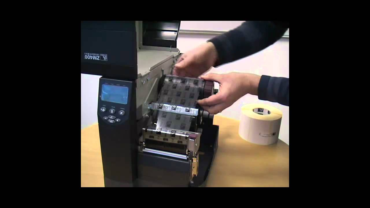 Zebra Zm400 Barcode Label Printer How To Install Ribbons