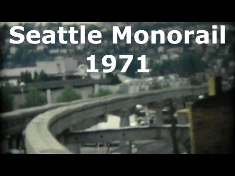Seattle Washington USA Monorail 1971