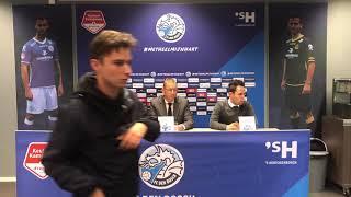 Persconferentie na FC Den Bosch-Helmond Sport