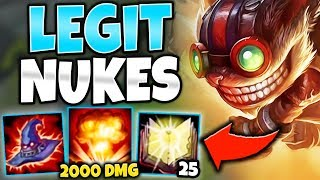 WTF IS THAT DAMAGE?! ZIGGS MID IS UNDERRATED (LEGIT NUKES) - League of Legends