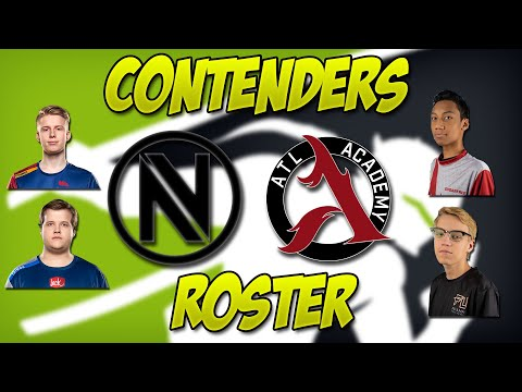 TEAM ENVY,ATLANTA ACADEMY,AND MONTREAL REBELLION CONTENDERS ROSTER!JECSE SIGNED TO HOUSTON OUTLAWS!