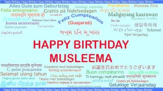 Musleema   Languages Idiomas - Happy Birthday