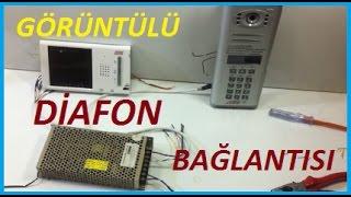 Görüntülü Diafon Bağlantısı Ve Çalışma Sistemi (AUDIO)
