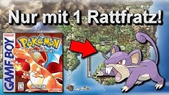 Kann man Pokemon Rot/Blau mit nur einem Rattfratz durchspielen? (+ Keine Items in Kämpfen)